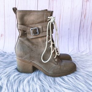 Guess Tan Ankle Boots Size 6.5